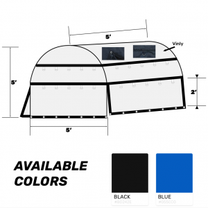 60x60x60 Heavy Duty Coil Tarp Black Color