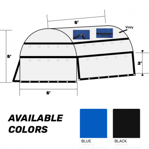 60x60x60 Heavy Duty Coil Tarp Blue Color