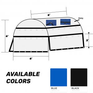 72x72x72 Heavy Duty Coil Tarp Blue Color