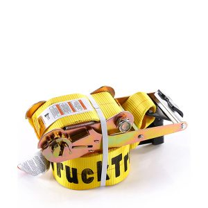"2""x30' Yellow Color Ratchet Strap With The Flat Hook"
