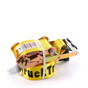 """4""""x30' Yellow Color Ratchet Strap With The Flat Hook"""