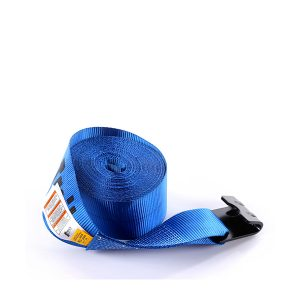 "4""x30' Blue Color Winch Strap With The Flat Hook"