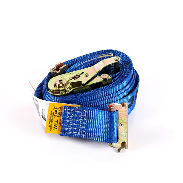 "2""x12' Blue Color E-Track Ratchet Strap"