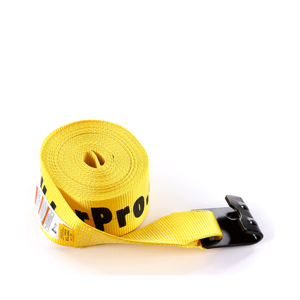 """4""""x30' Yellow Color Winch Strap With The Flat Hook"""